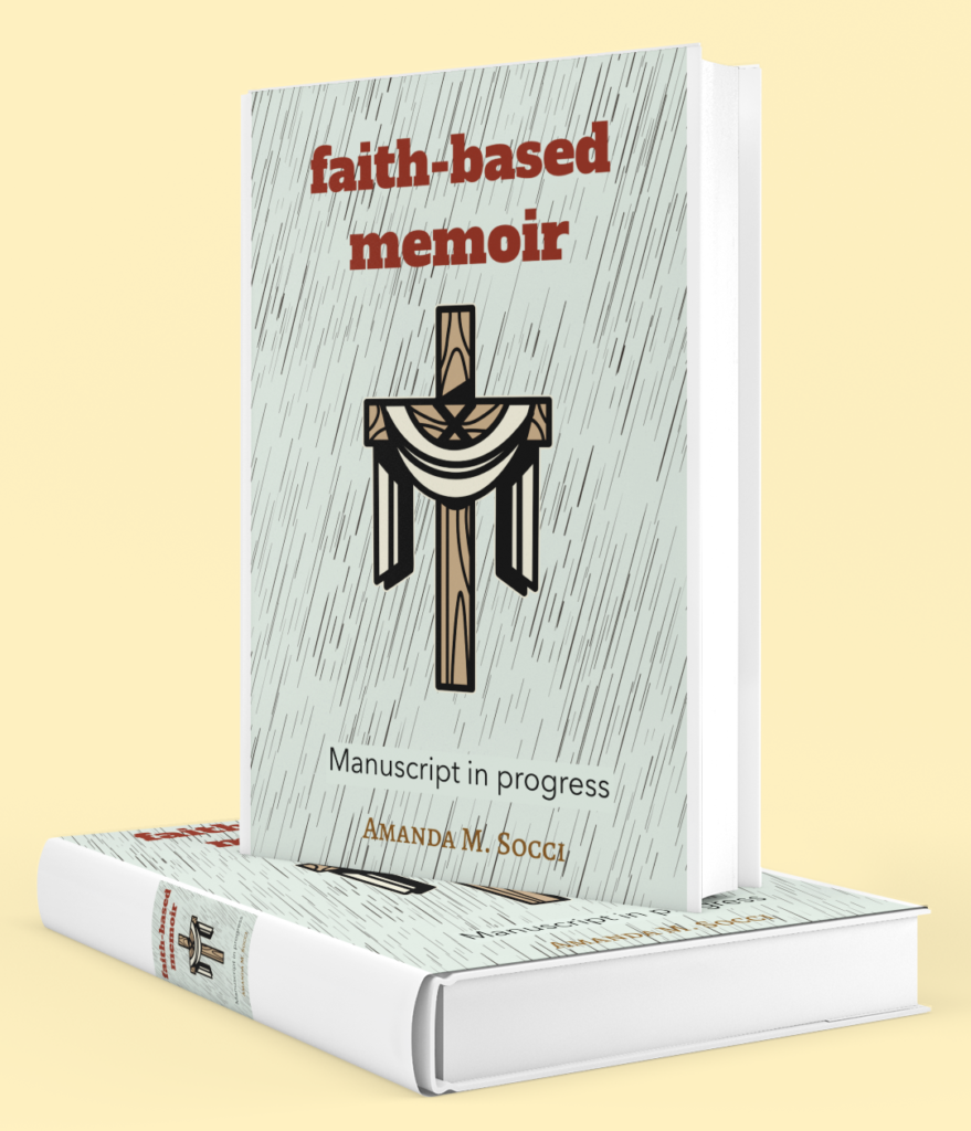 Amanda M. Socci has a manuscript in progress. The finished book will be a faith-based memoir that talks about Amanda's life problems and toes everything together with a bow of faith.